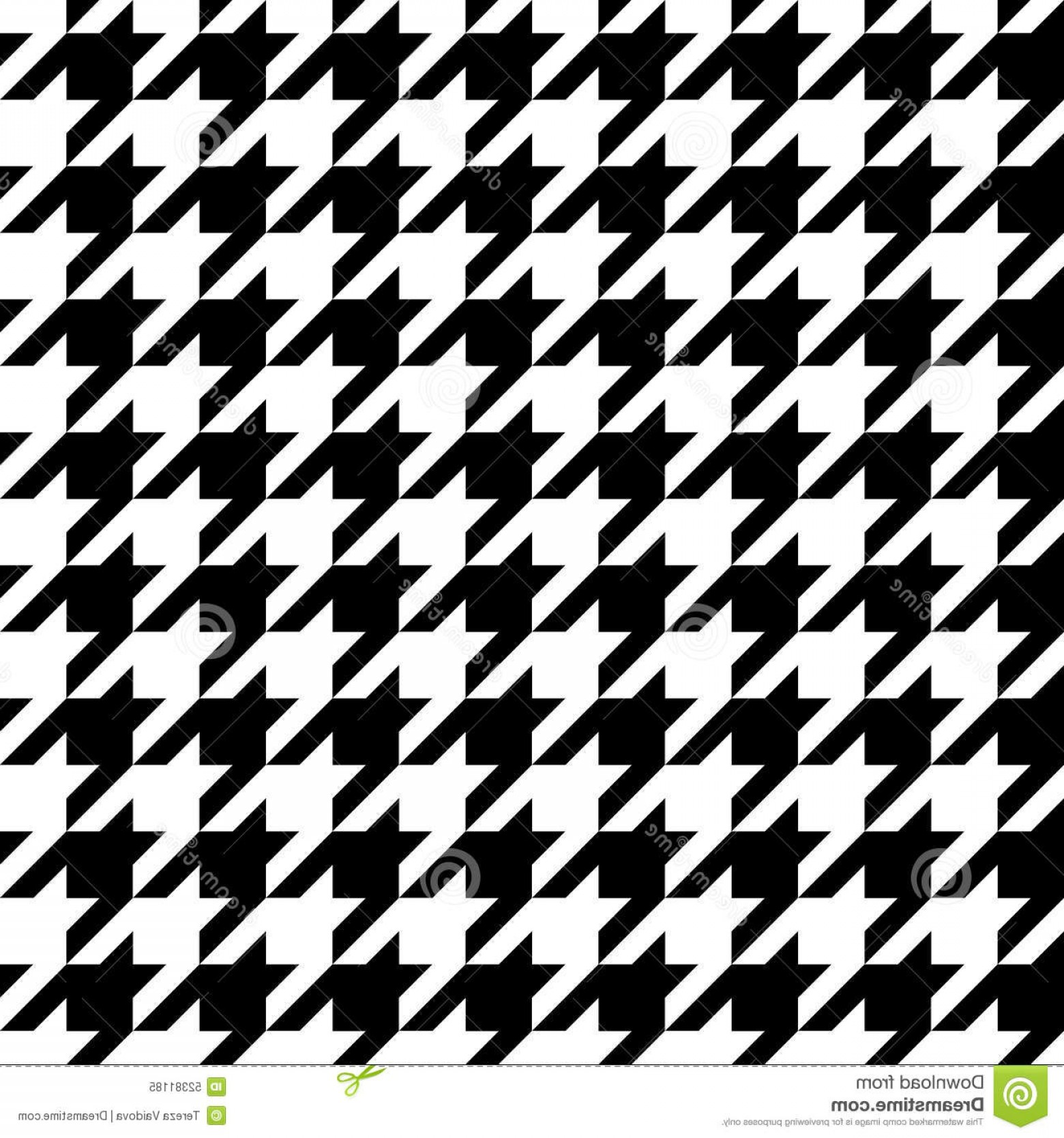 Houndstooth Hats Vector: Houndstooth Check Black White Fabric Pattern Texture Illustration