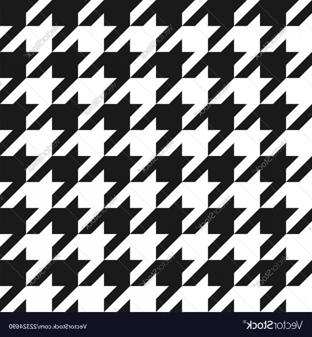 Houndstooth Vector: Houndstooth Seamless Pattern Vintage Houndstooth Vector