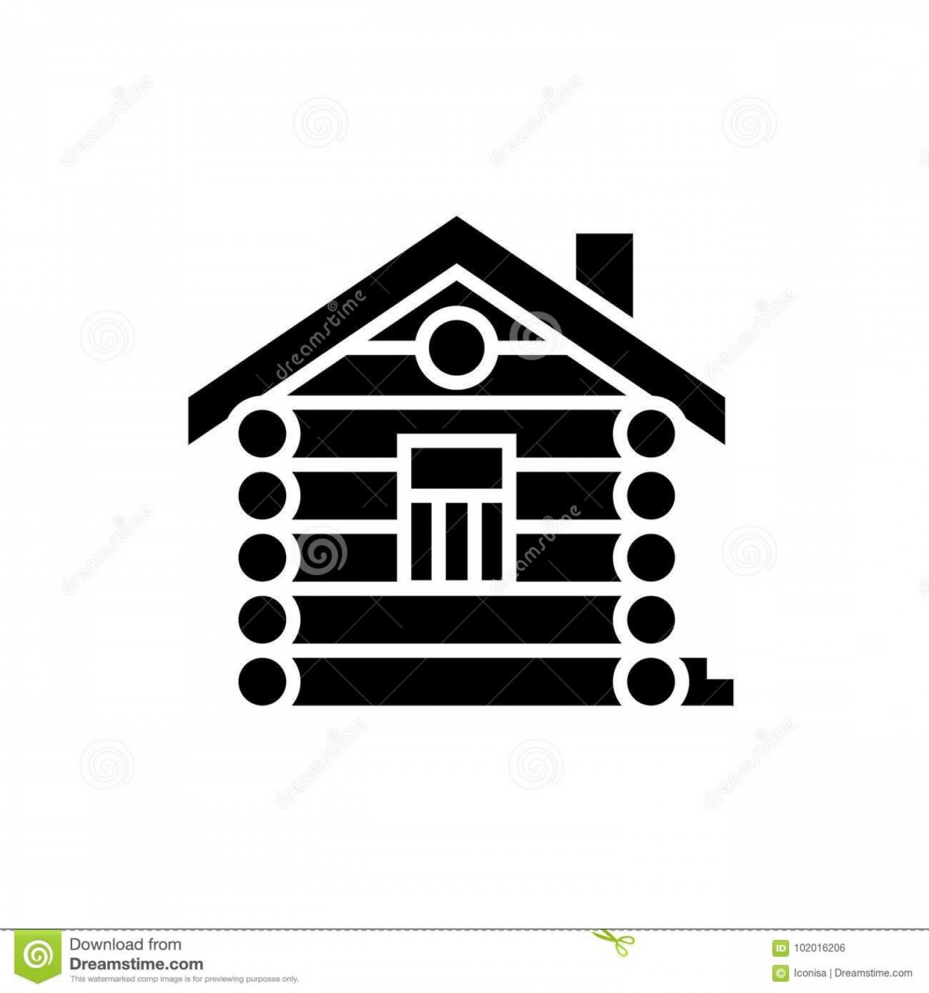 Vector House Sign: House Cabin Wood House Icon Illustration Vector Sign Isolated Background House Cabin Wood House Icon Vector Illustration Black Image