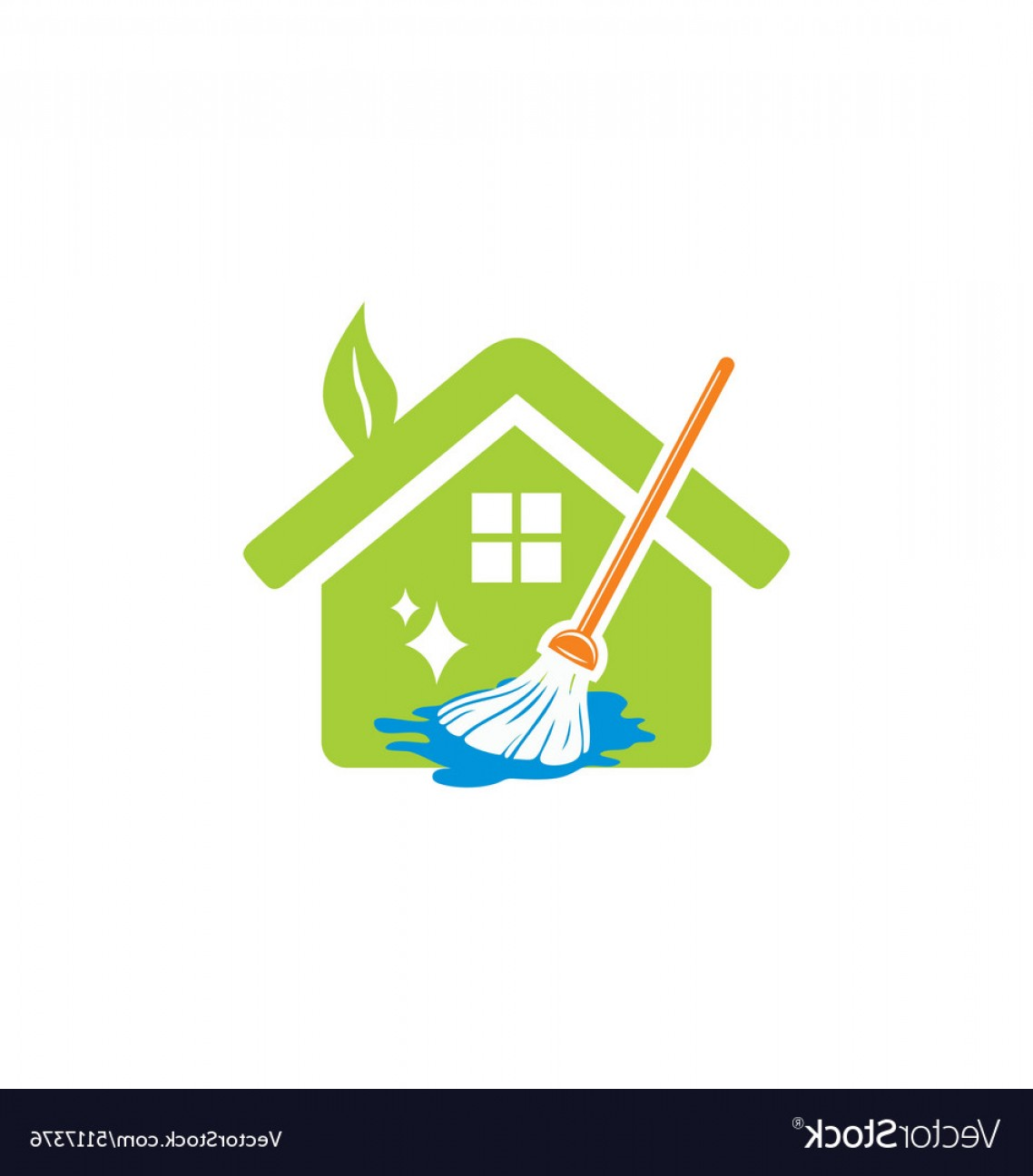 Cleaning Logo Vector Art: House Cleaning Service Logo Vector