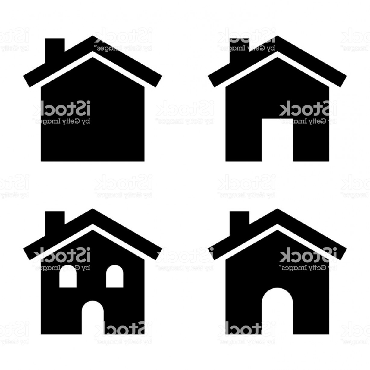 House Clip Art Vector: House Clip Art Vector Set Gm