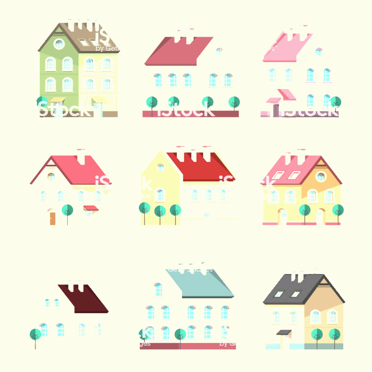 Flat Vector House: House Icon Vector Houses Symbols Building Flat Design Symbol Gm