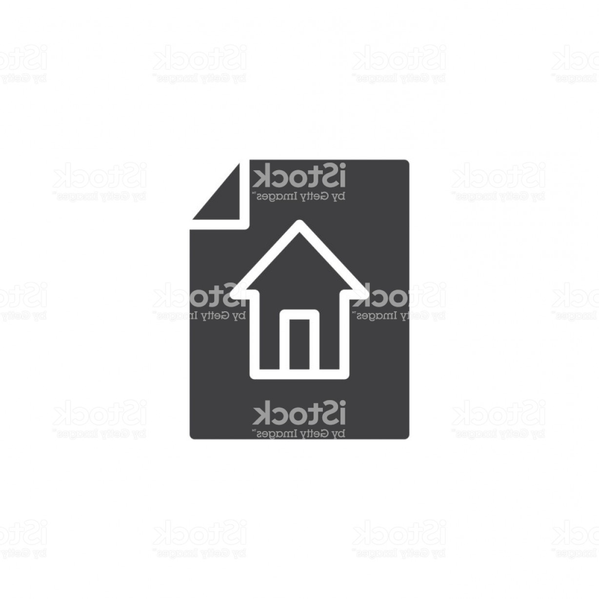 Art Project Icon Vector: House Project On Paper Icon Vector Gm