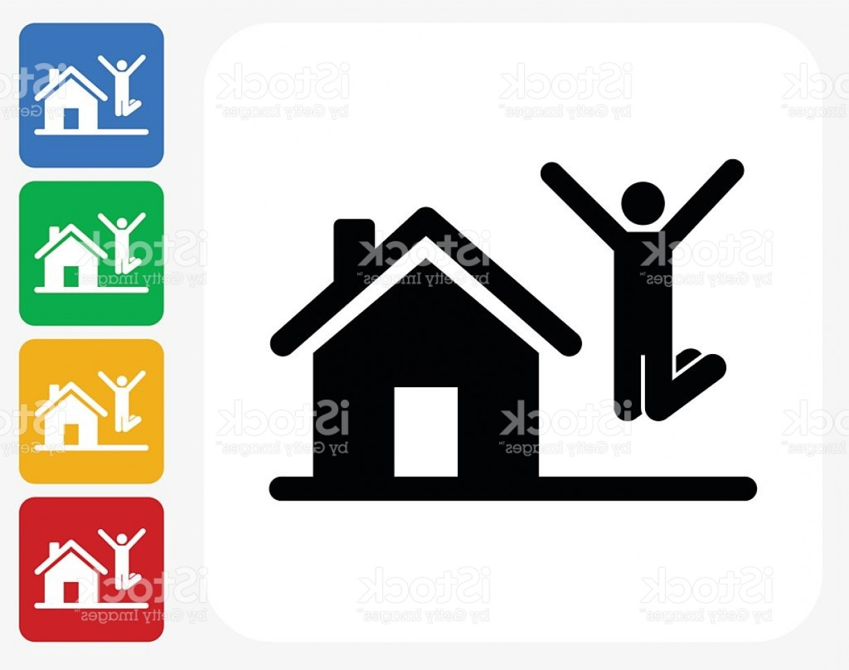 Purchase Vector Art: House Purchase Icon Flat Graphic Design Gm