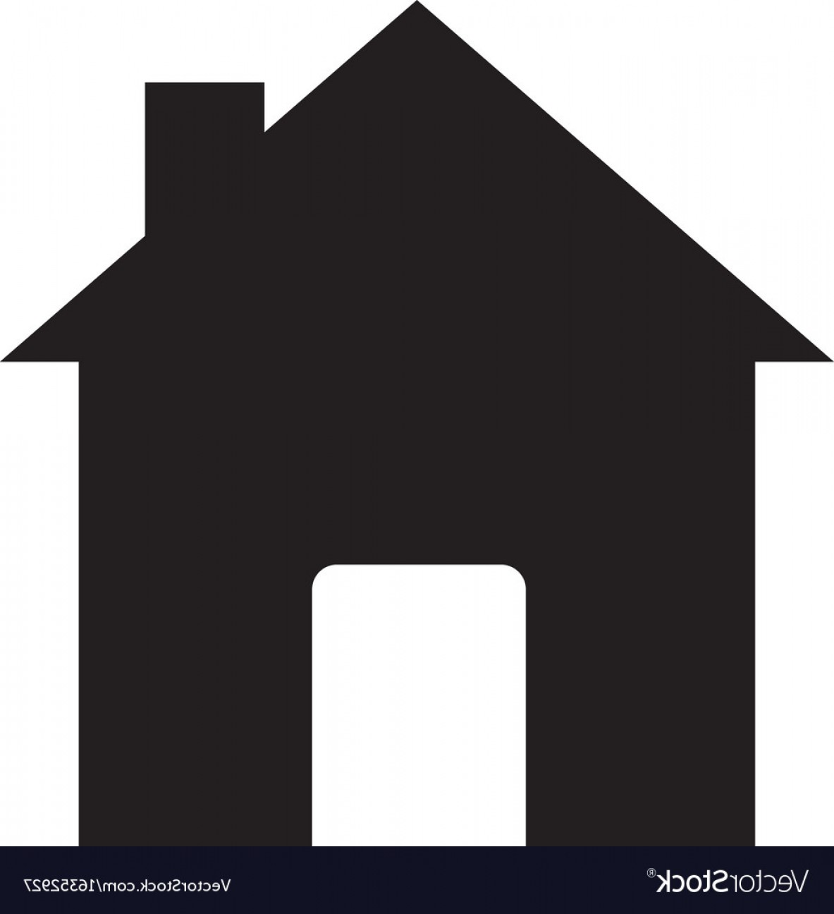 Vector House Sign: House Sign House Icon On White Background Flat Vector