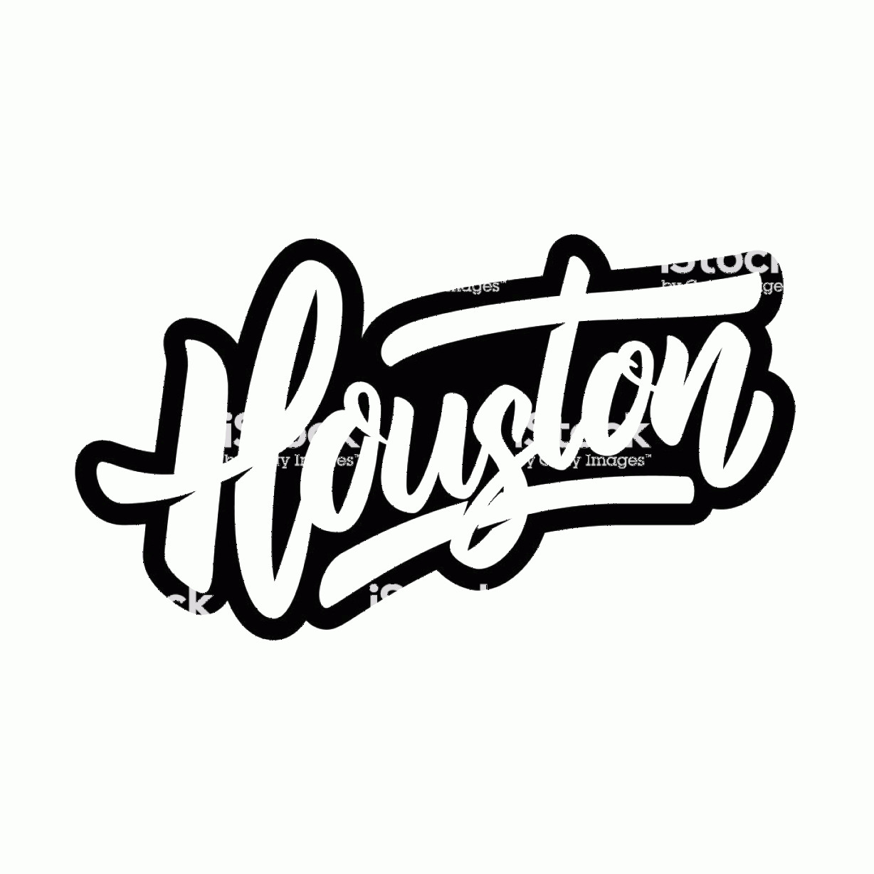 Vector Houston TX: Houston Lettering Phrase On White Background Design Element For Poster Banner T Gm