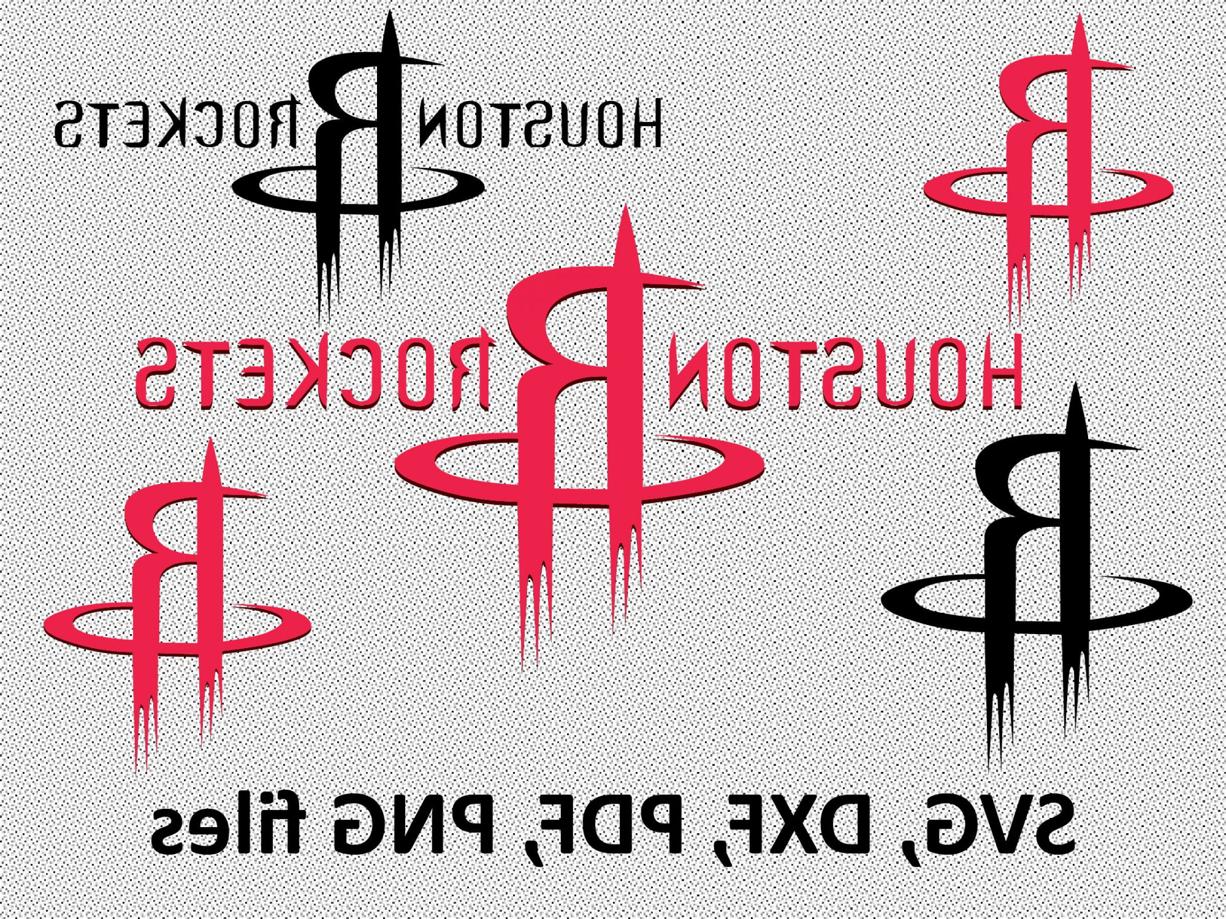 Vector NBA LogoArt: Houston Rockets Svg Dxf Pdf Png Clipart