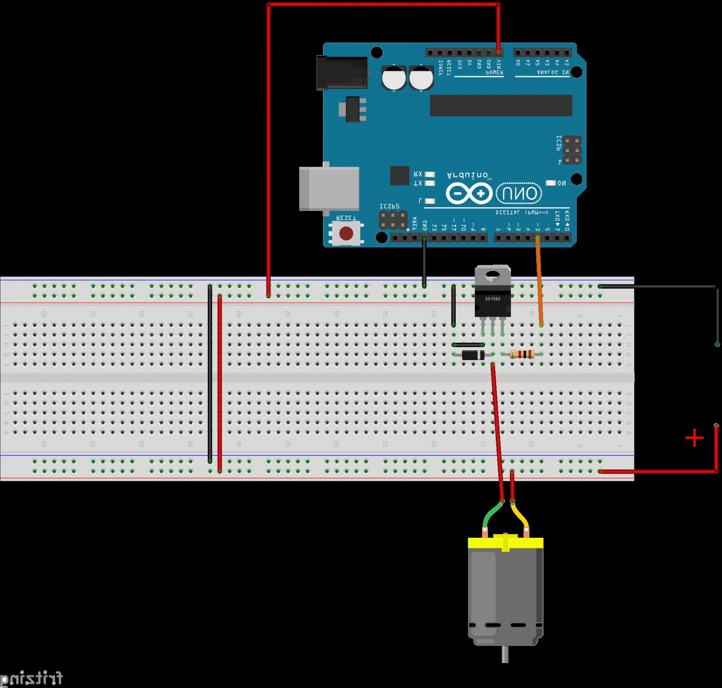 Arduino Vector Png: How To Control The Speed Of A V Dc Motor With An Arduino