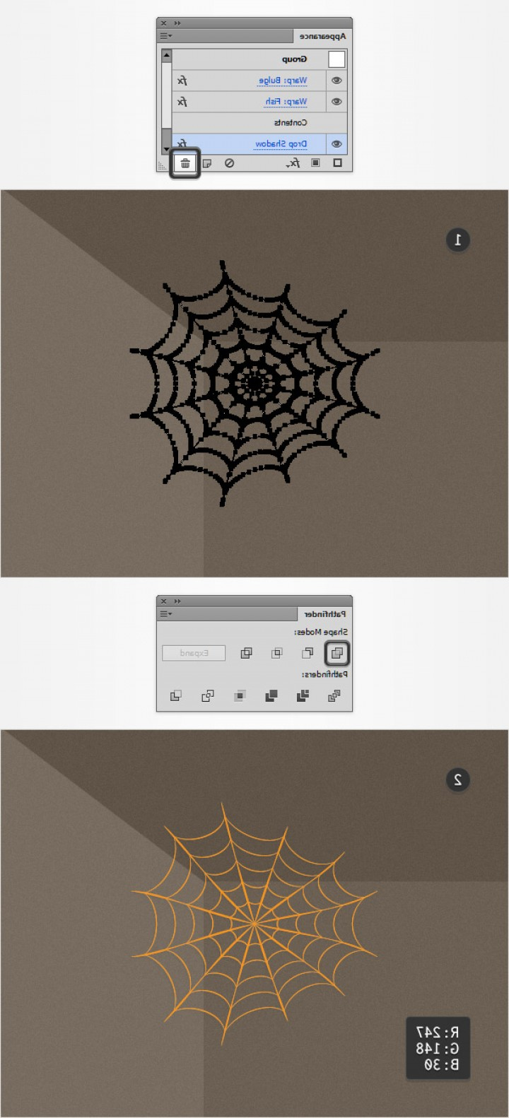 Easy Spider Vector Illustration: How To Create A Simple Spider Web Illustration In Adobe Illustrator Cms