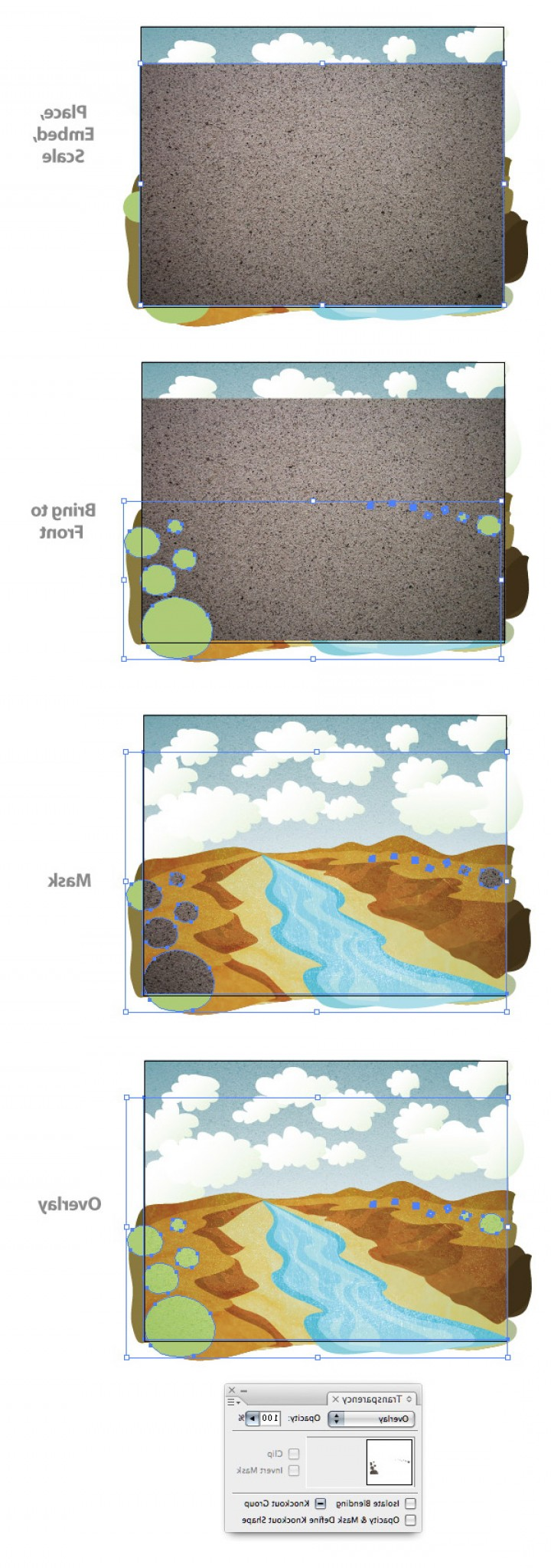 Vector Tut's Blends: How To Create A Textured Vector Landscape Vector