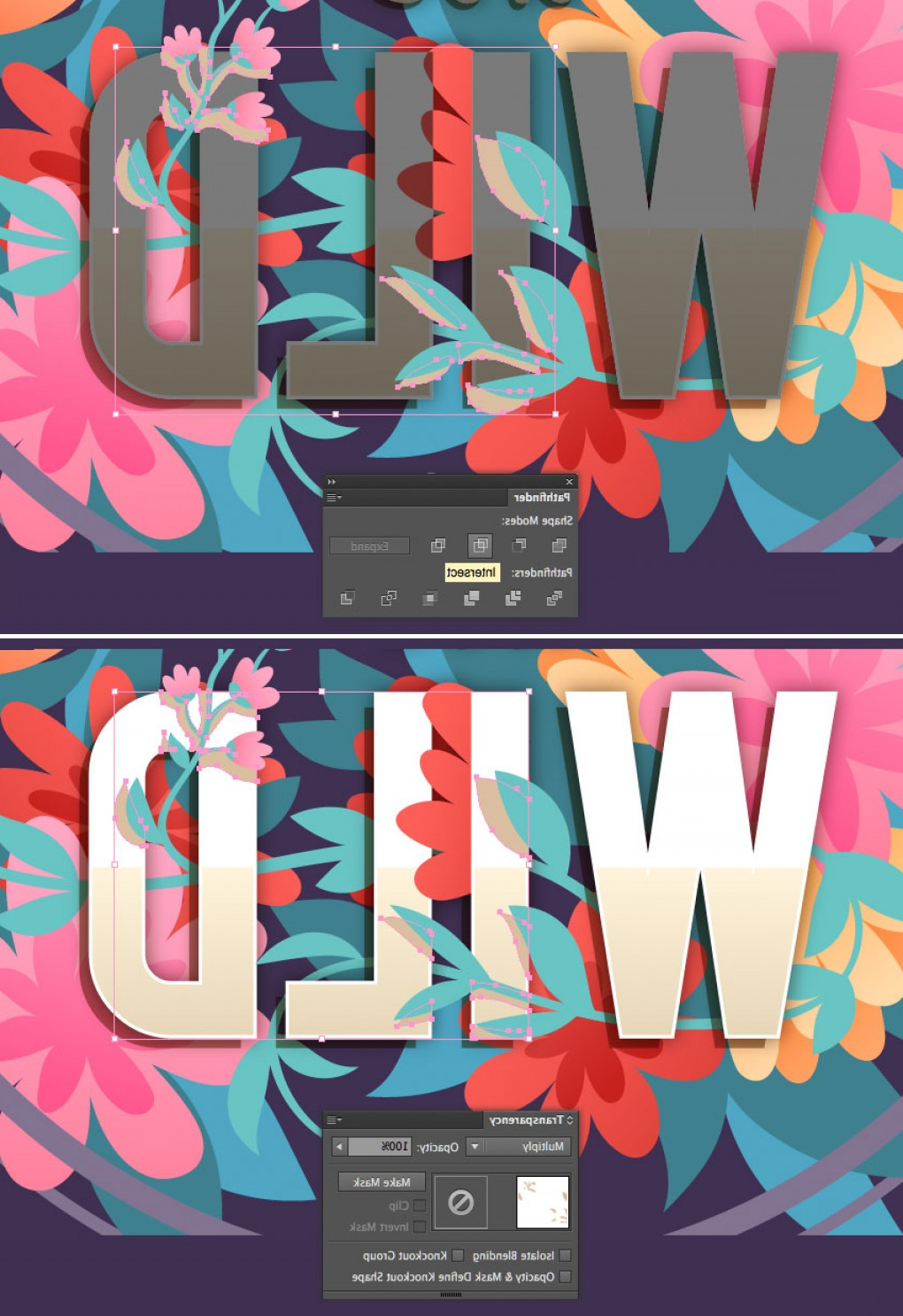 Vector Tut's Blends: How To Create A Vector Floral Typography In Adobe Illustrator Cms