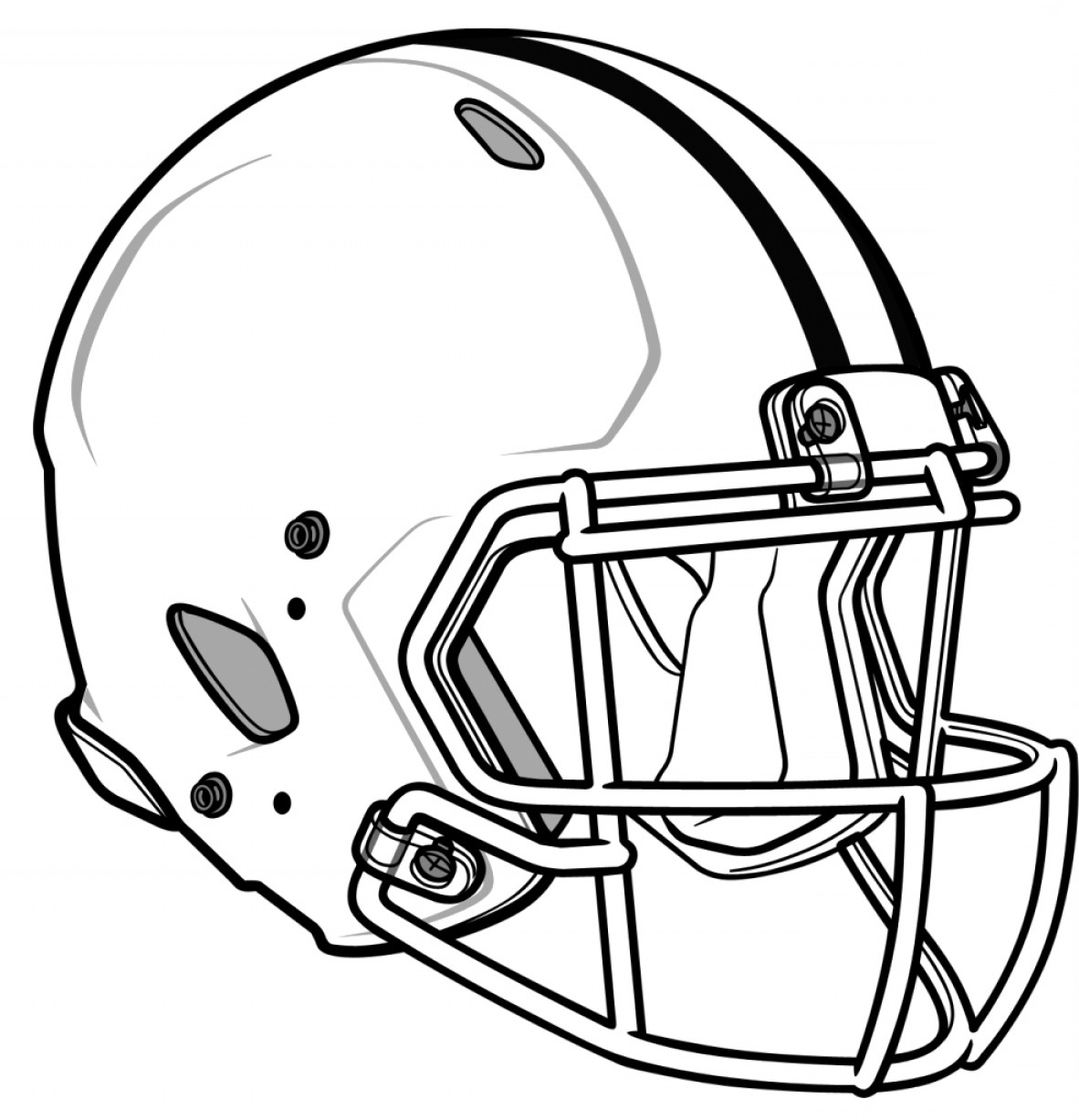 Seahawks Helmet Vector: How To Draw A Football Helmet