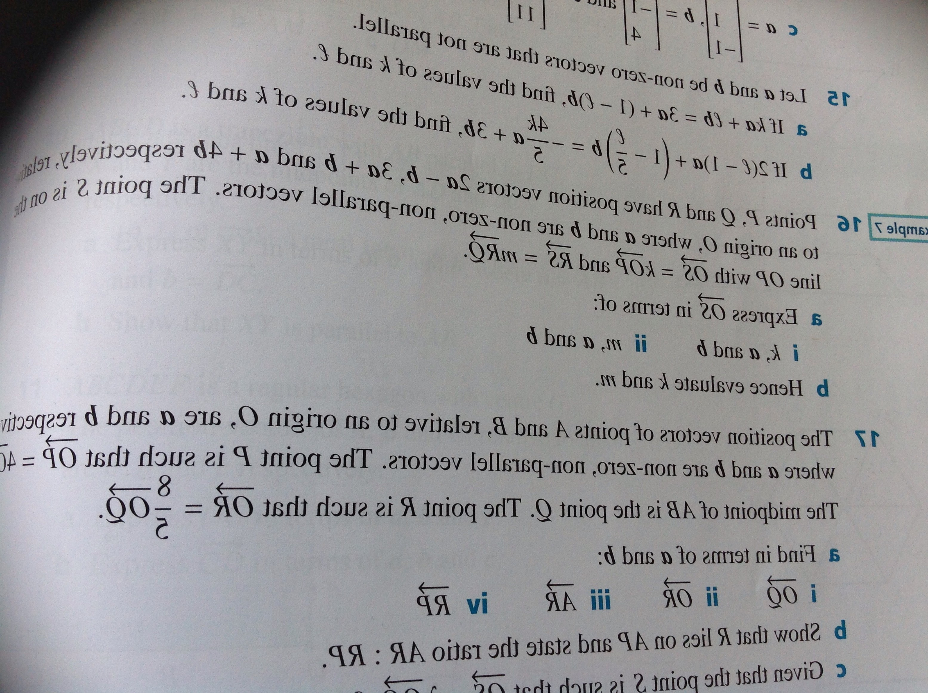 Zero Position Vector: How To Find A Vector In Terms Of M