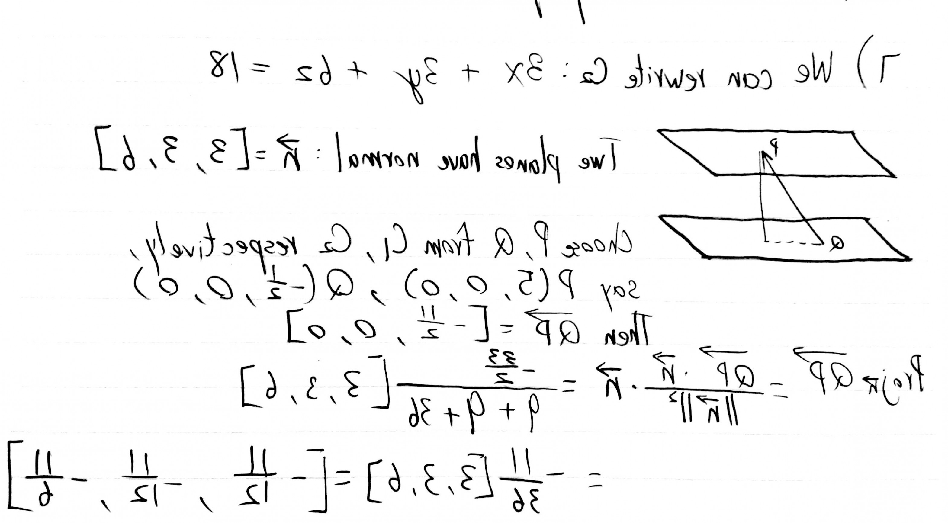 Normal Vector Formula Calc 3: How To Find The Distance Between Two Planes