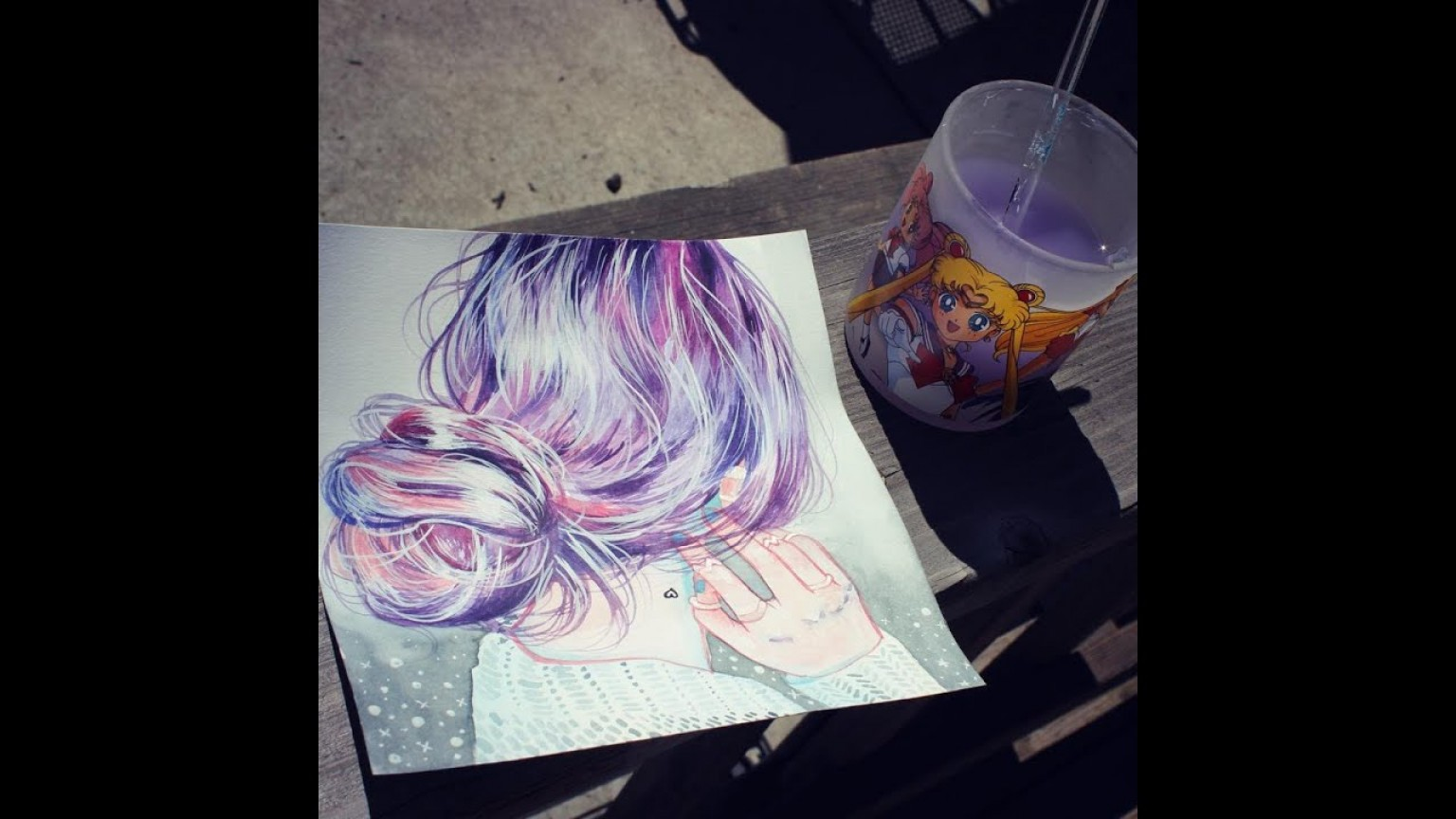 Hello Kitty Grayscale Vector-Based: How To Paint Hair With Watercolor Tutorial And Tips