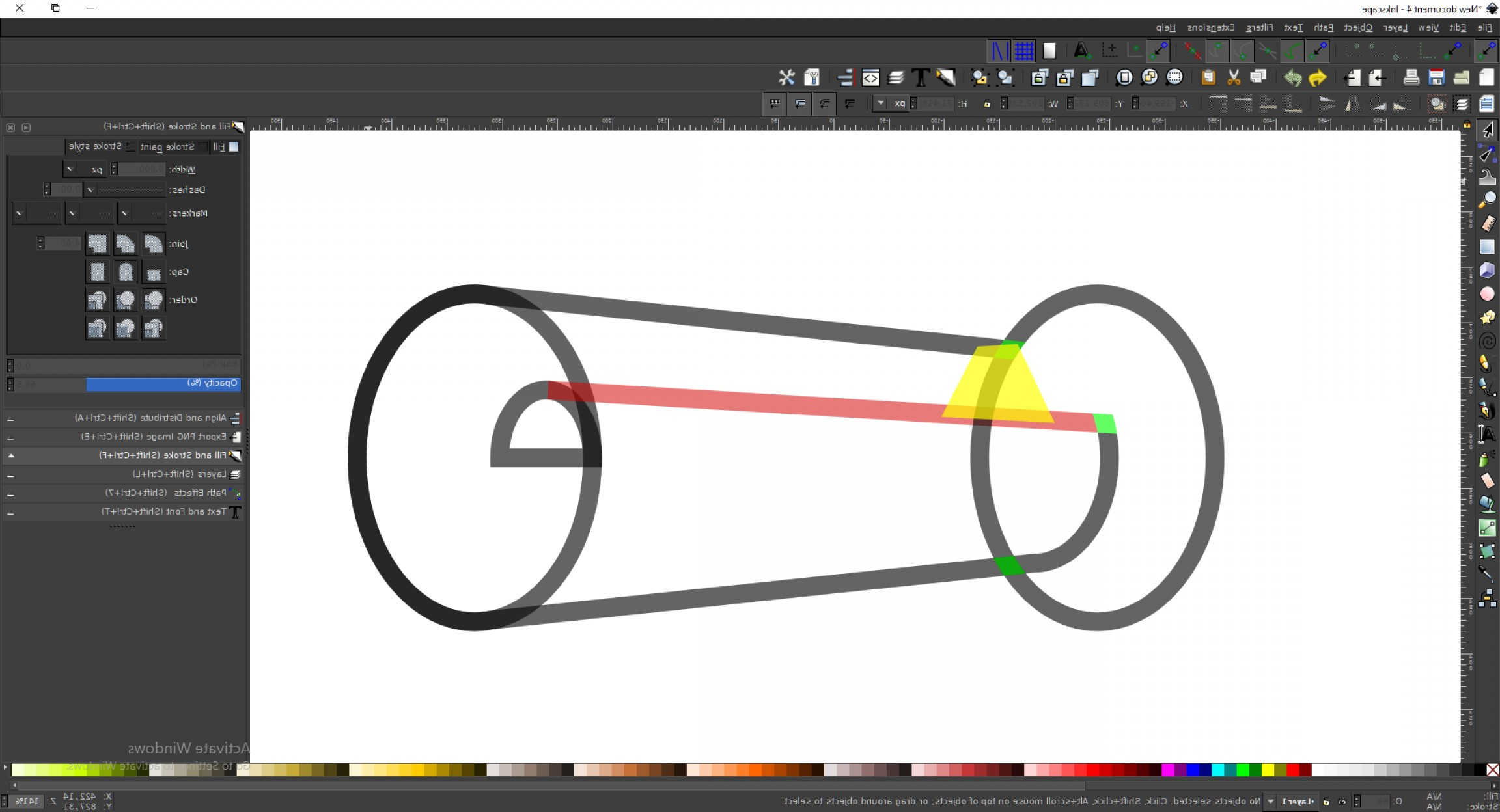 Use An Image To Vector Inkscape: How To Turn Off Displaying Stroke When Using A Path Operation In Inkscape