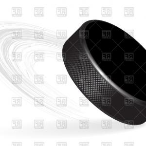 Hockey Puck Vector: Hockey Puck With Rubber Texture Vector Clipart