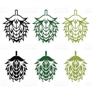 Hops Vector Art: Hop Vector Seamless Pattern Black Hand Drawn Artistic Beer Hop Gm