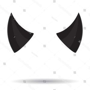 Devil Horns Silhouette Vector: Angels Halo And Devils Horns Vector Clipart