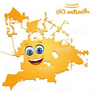 Houston Yexas Vector Art: Houston Texas City Map With Smiling Face Illustration Gm