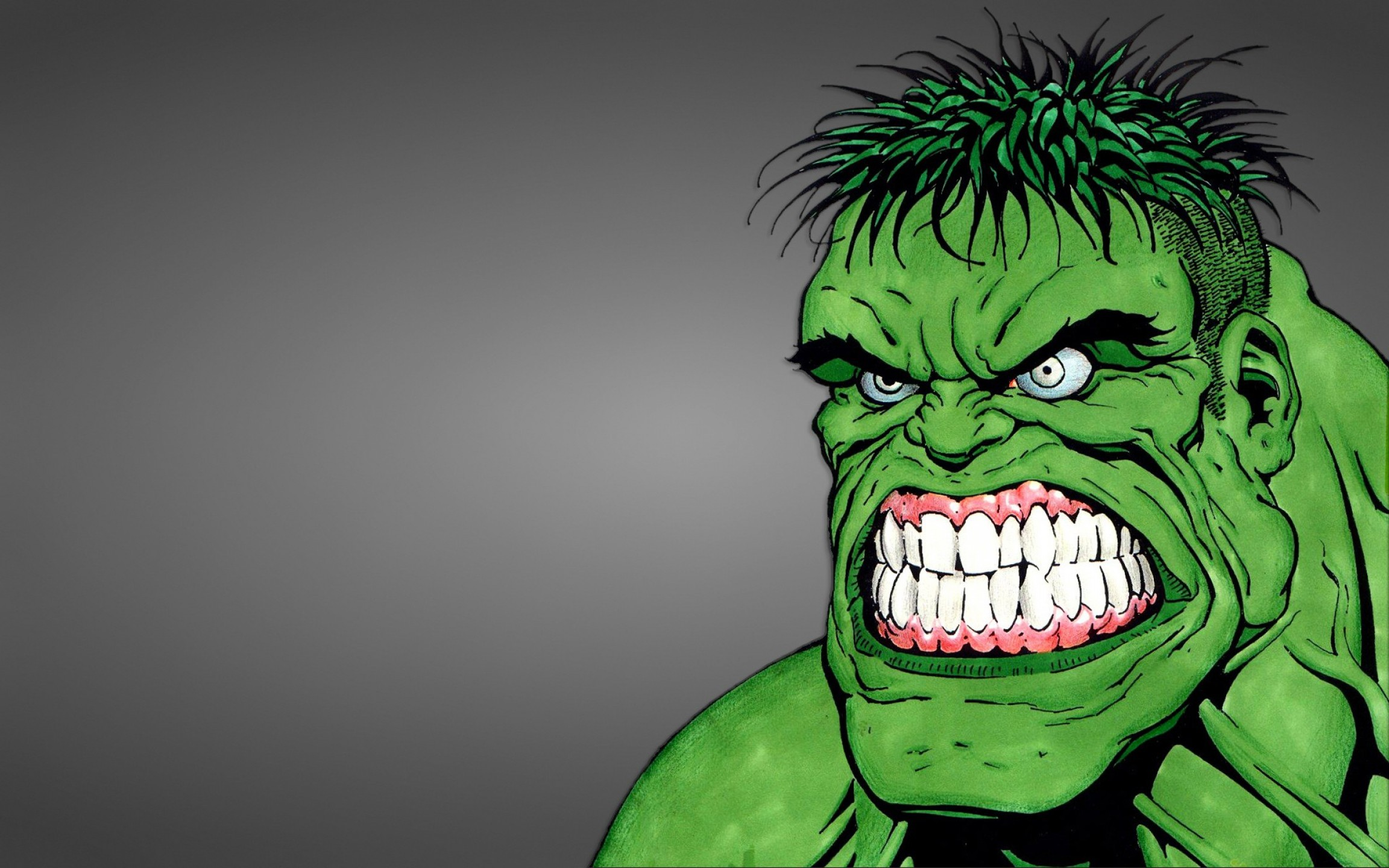Hulk Origional Vectors: Hulk Hulk Angry Face Monster Wide