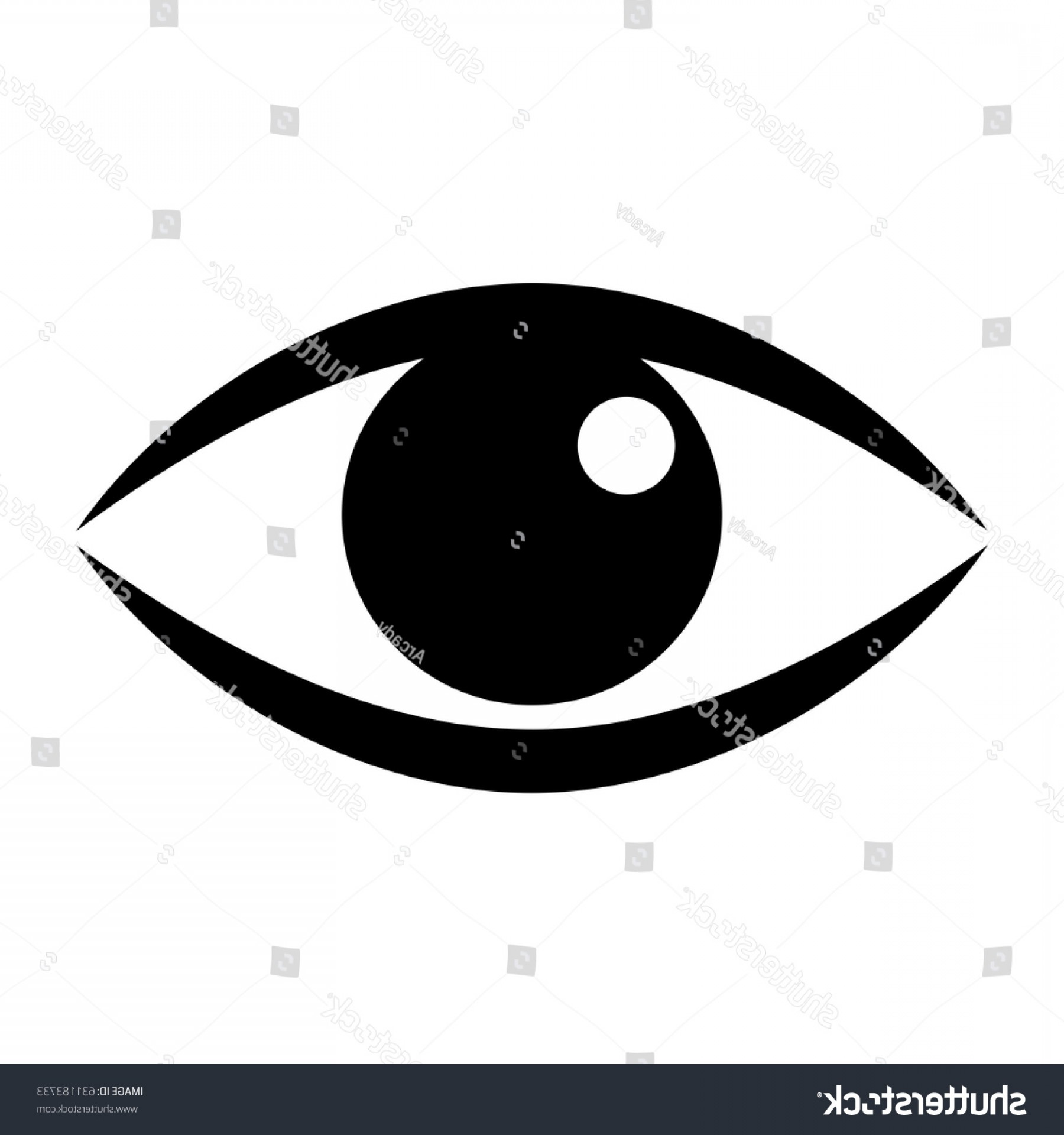 Green Cartoon Eyes Vector Png: Human Eye Vector Icon On White
