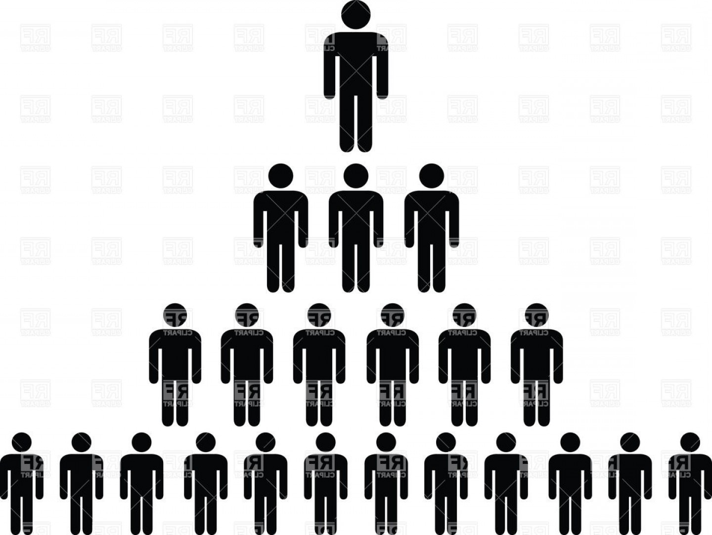 Vector People Free Clip Art: Human Hierarchy Pyramid Multilevel Marketing Mlm Vector Clipart