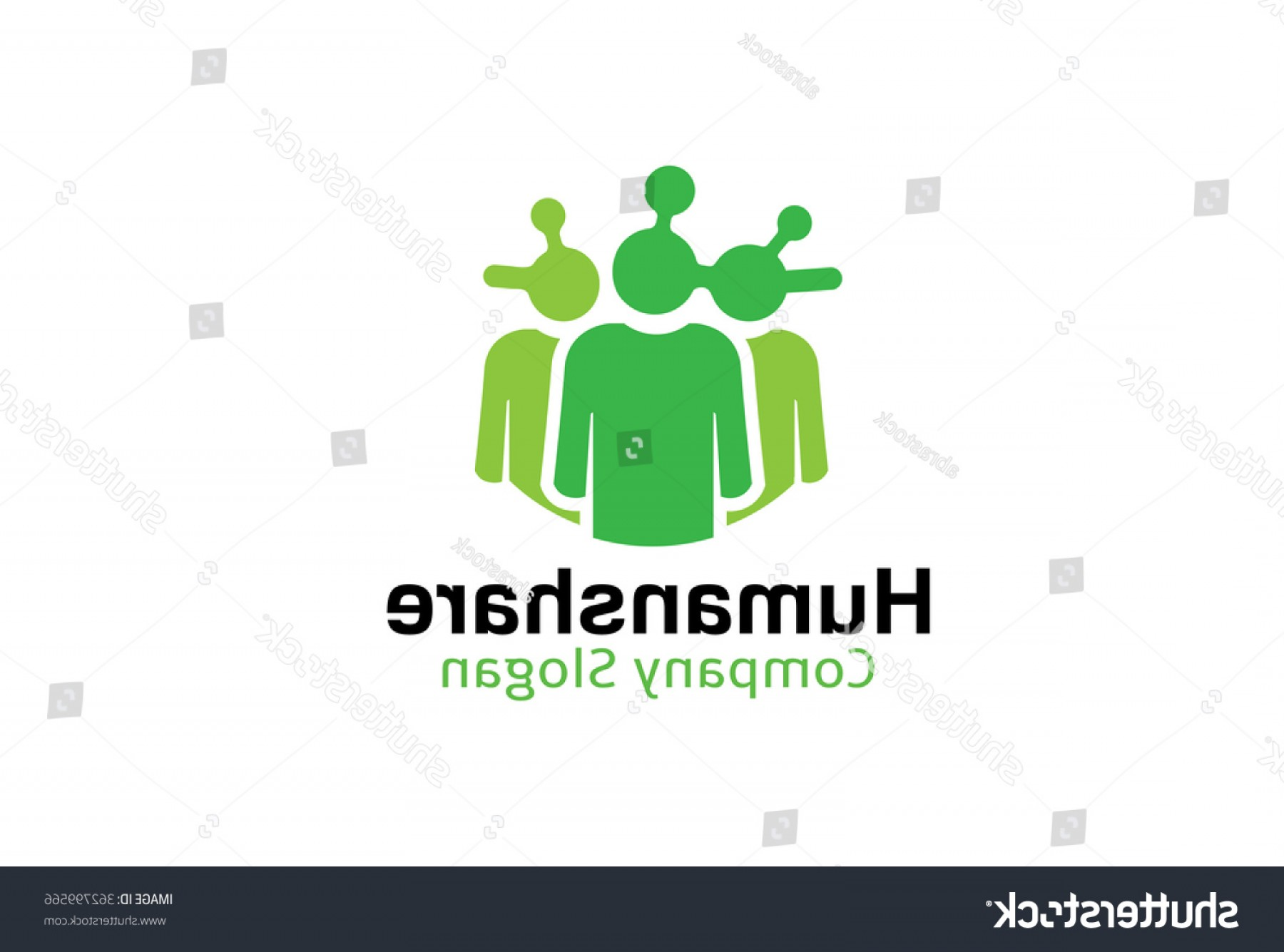 Share Logo Vector: Human Share Logo Design Illustration