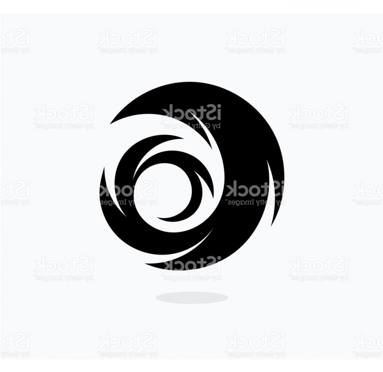 Hurricane Vector Art: Hurricane Icon Template Swirl Vector Illustration Abstract Tail Black Icon Gm