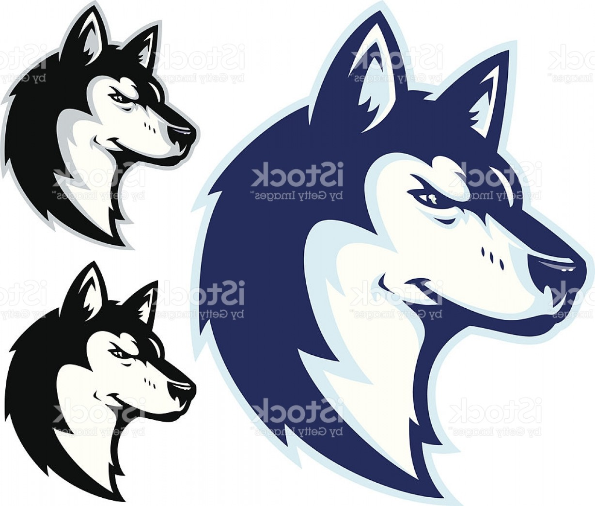 Dog Mascot Vector: Husky Power Ii Mascot Gm