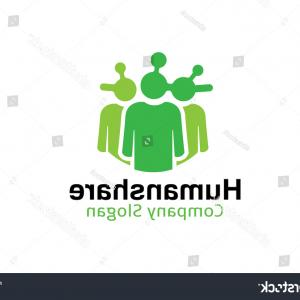 Share Logo Vector: Photostock Vector Modern Green Share Coud App Logo Vector Image