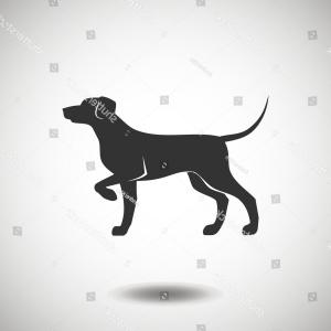 Hunting Dog Vector: Hunting Dog Black Icon Silhouette Vector