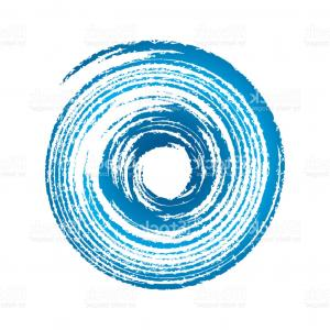 Hurricane Vector Art: Blue Symbol Sign Of A Storm Hurricane Vector