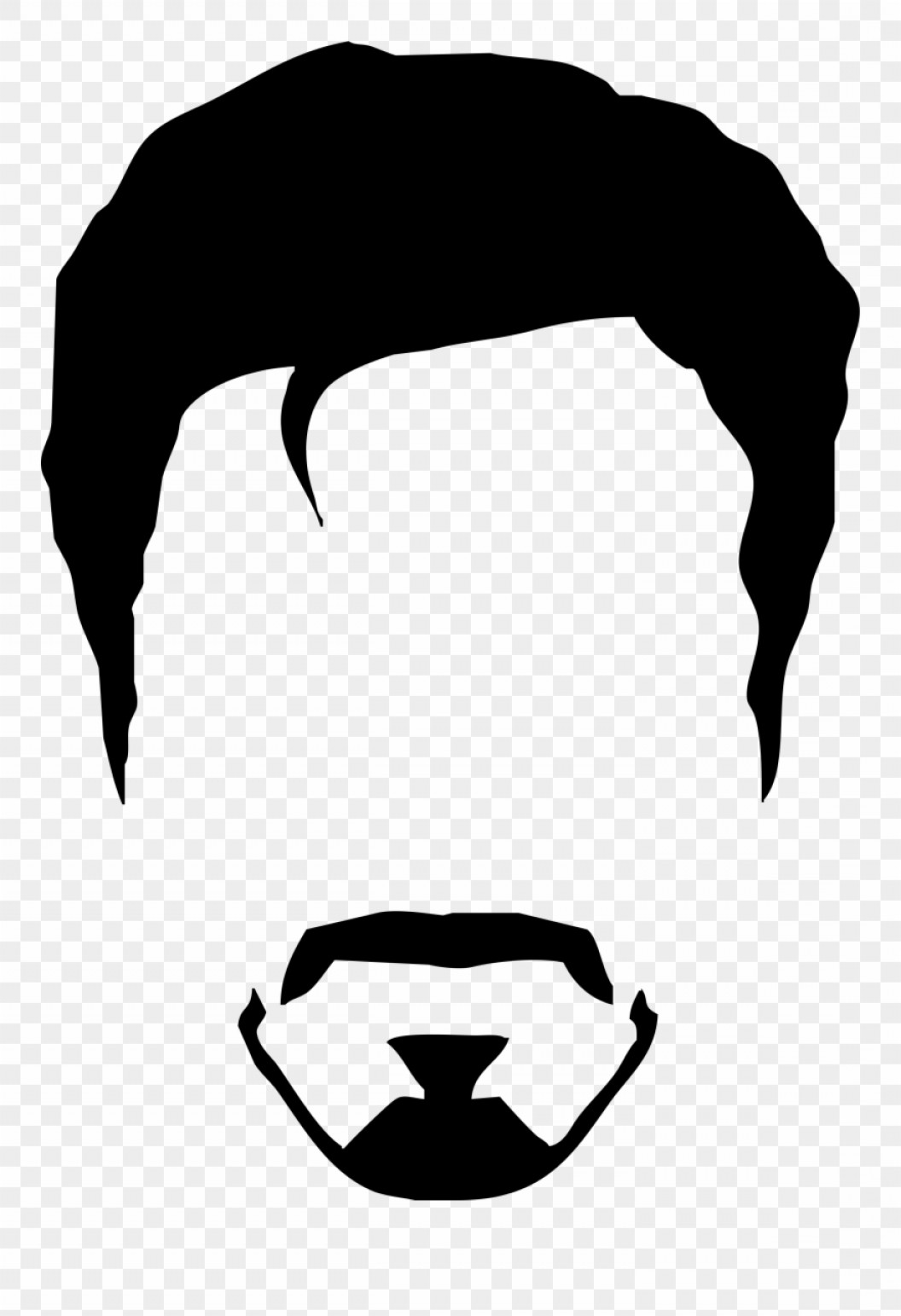 Short Men's Hair Vector: Hwtbtielvis Clipart Minimalist Man Hair Vector Png Transparent