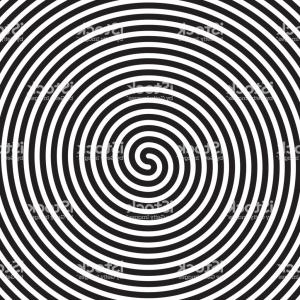 Vector Circles Illusion: Hypnotic Circles Abstract White Black Vector Spiral Swirl Optical Illusion Pattern Gm