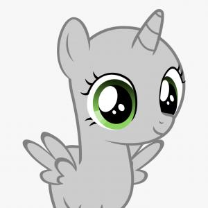 MLP Vector Cartoon Eyes: Ibirmticute Grey Cartoon Pegasus With Big Green Eyes