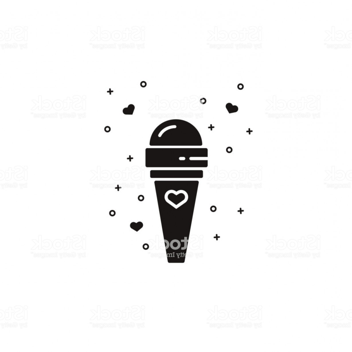 Snow Cone Outline Vector: Ice Cream In A Cone Black Sillhouette Icon On Isolated Background Dairy Dessert Gm