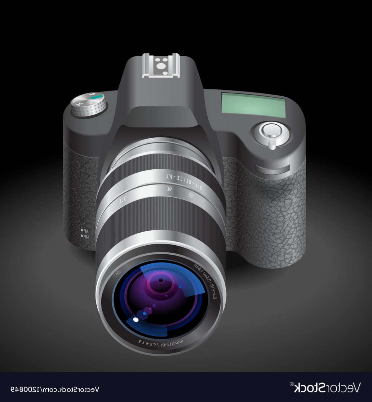 SLR Camera Vector: Icon For Slr Camera Vector