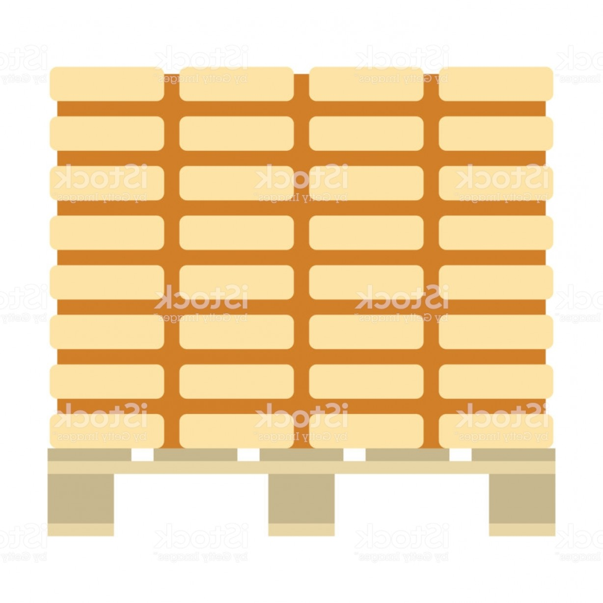 Pallet Vector Graphic: Icon Of Construction Pallet Gm
