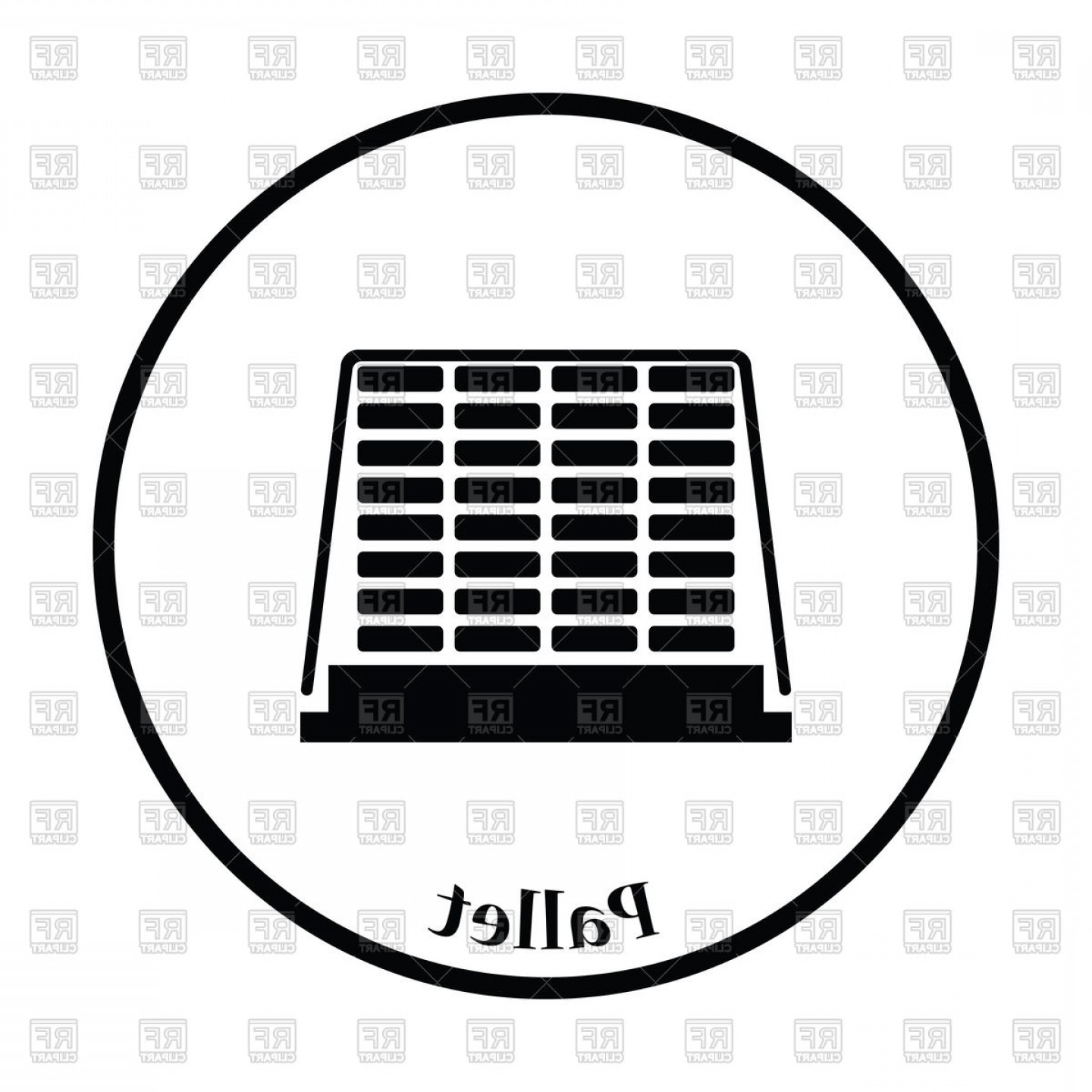 Pallet Vector Graphic: Icon Of Construction Pallet Vector Clipart