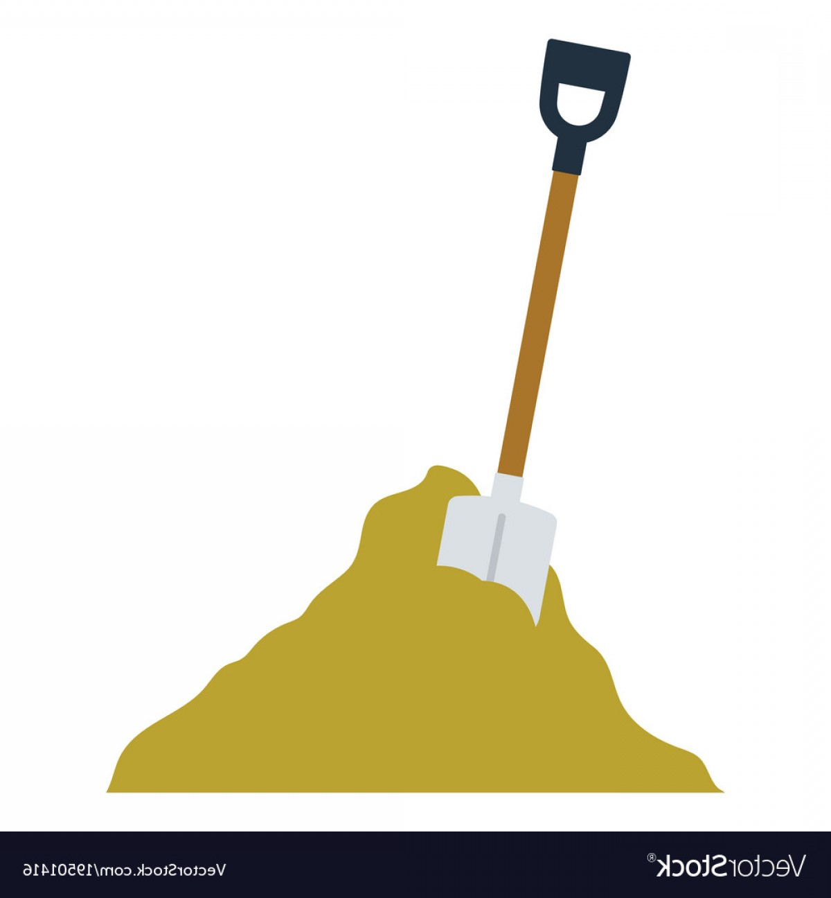 Shovel Vector: Icon Of Construction Shovel And Sand Vector