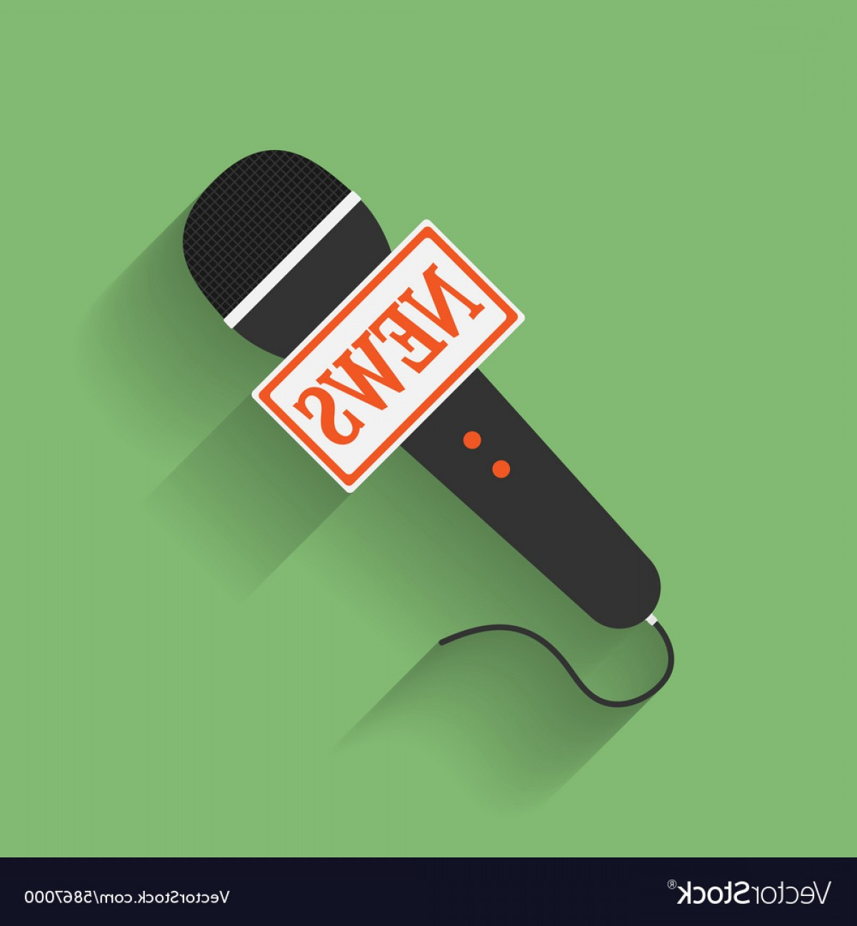 News Microphone Icon Vector: Icon Of Microphone Press Or News Microphone Flat Vector