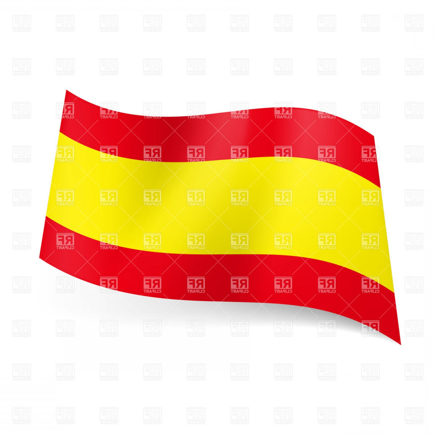 Spanish Vector Art: Icon Of National Flag Of Spain Vector Clipart