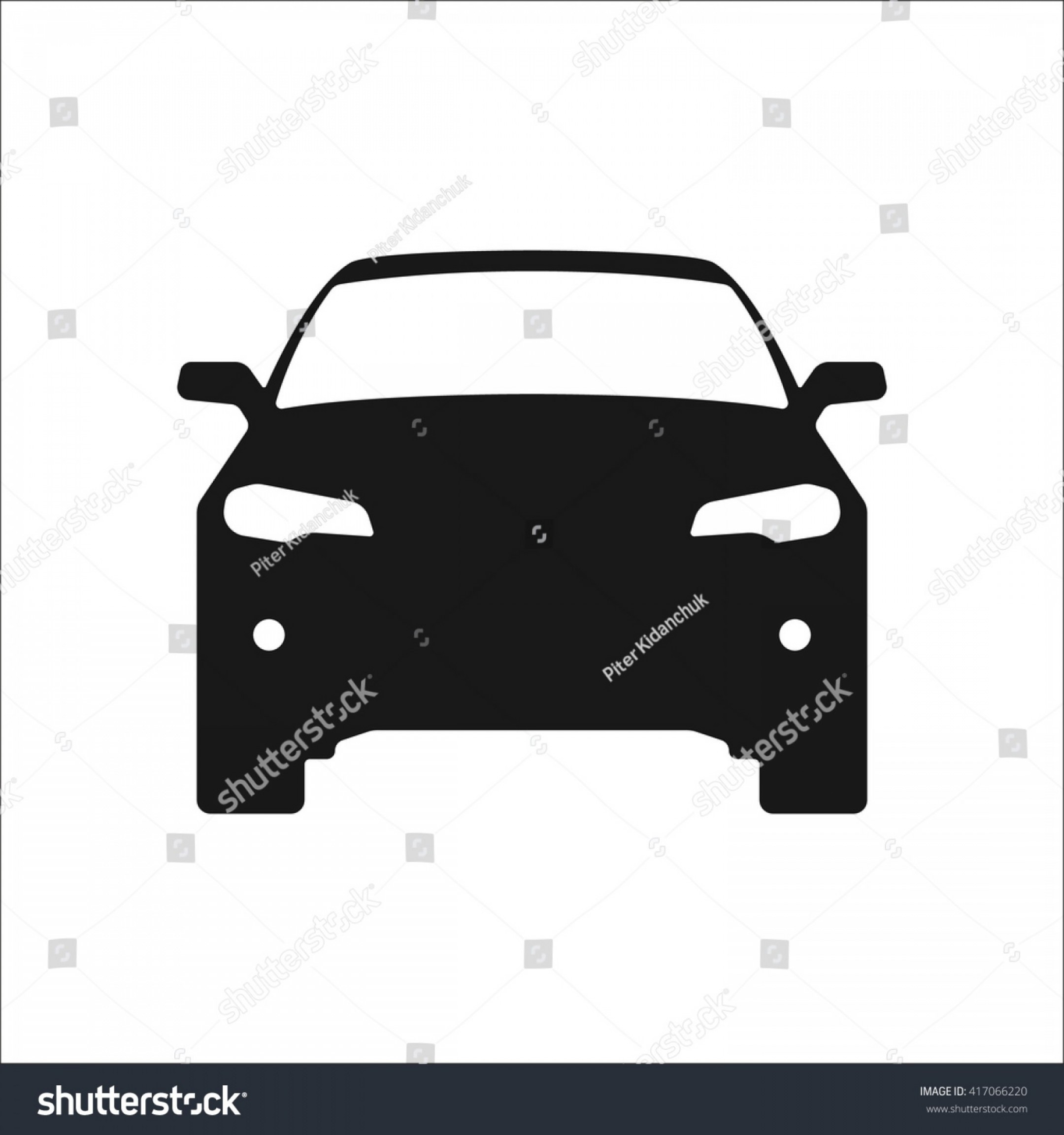 SUV Car Elevation Vector: Icon Set Clipart Road Vehicles Outline