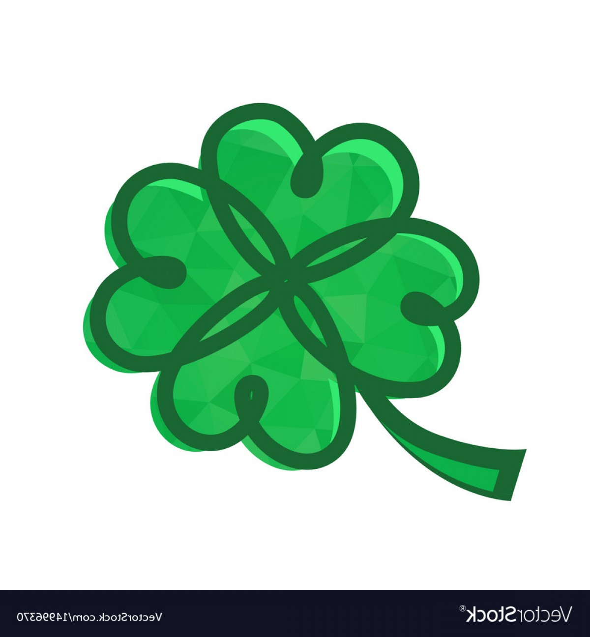 Celtic Shamrock Vector: Icon With Celtic Symbol Of Fortune Vector