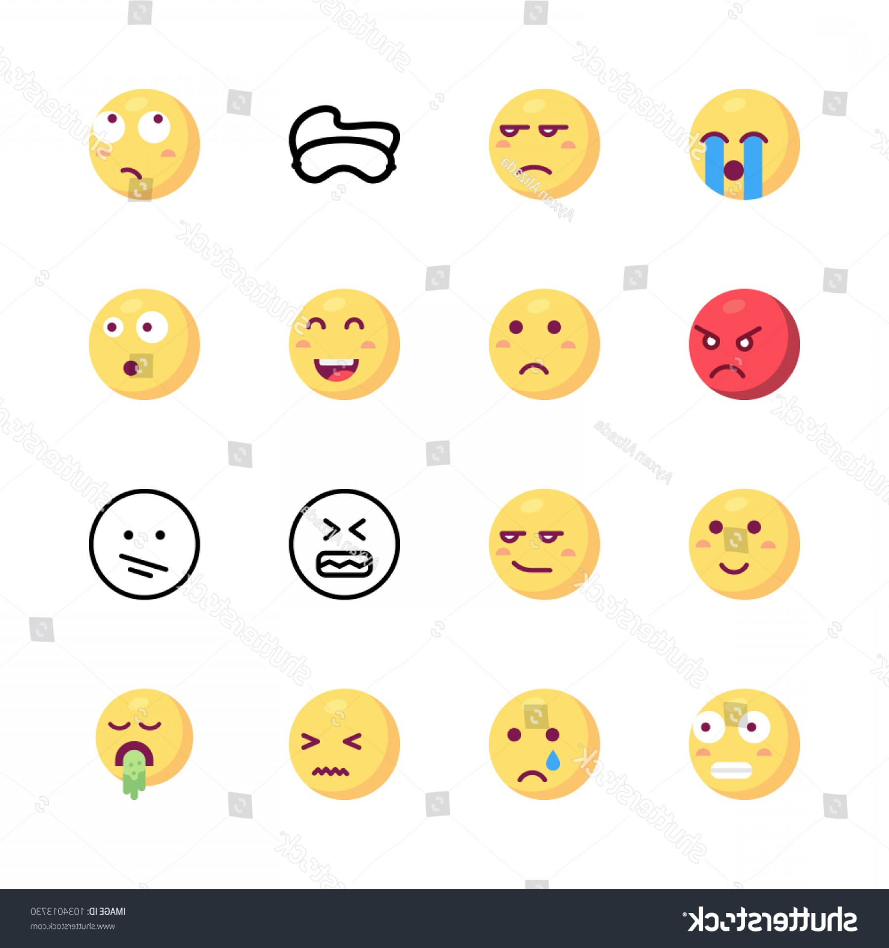Angry Emoji Vector Icons: Icons Emoji Vector Angry Cry Confused