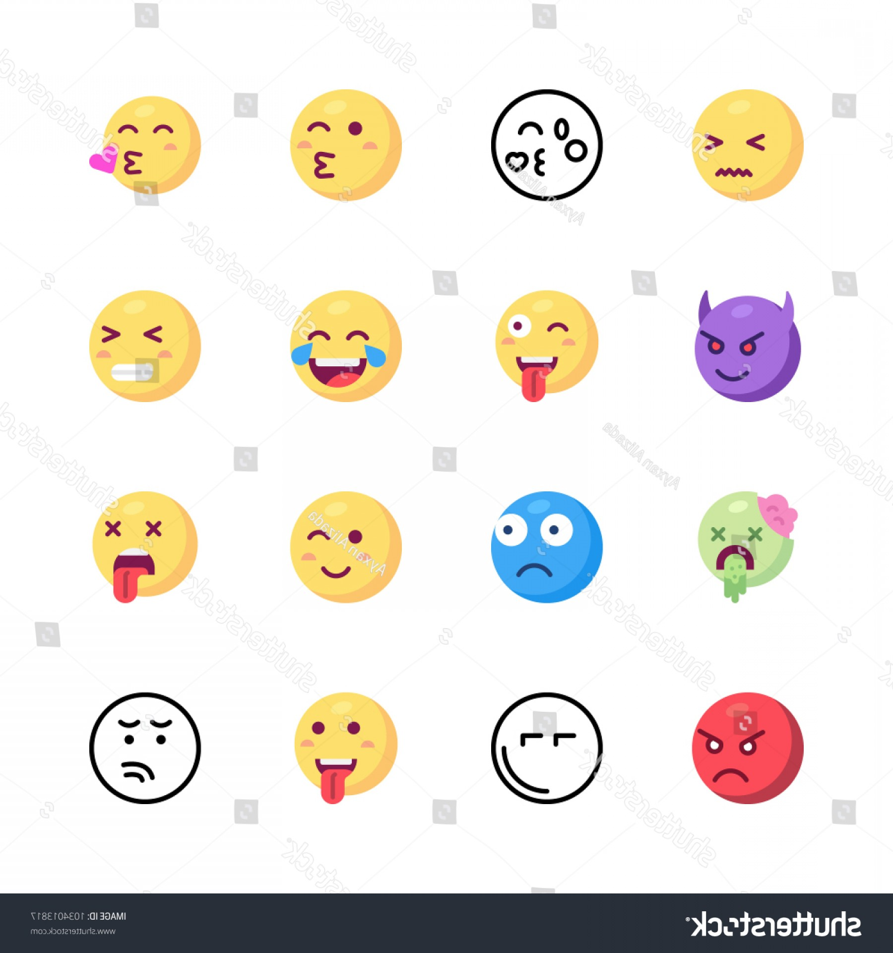 Angry Emoji Vector Icons: Icons Emoji Vector Angry Devil