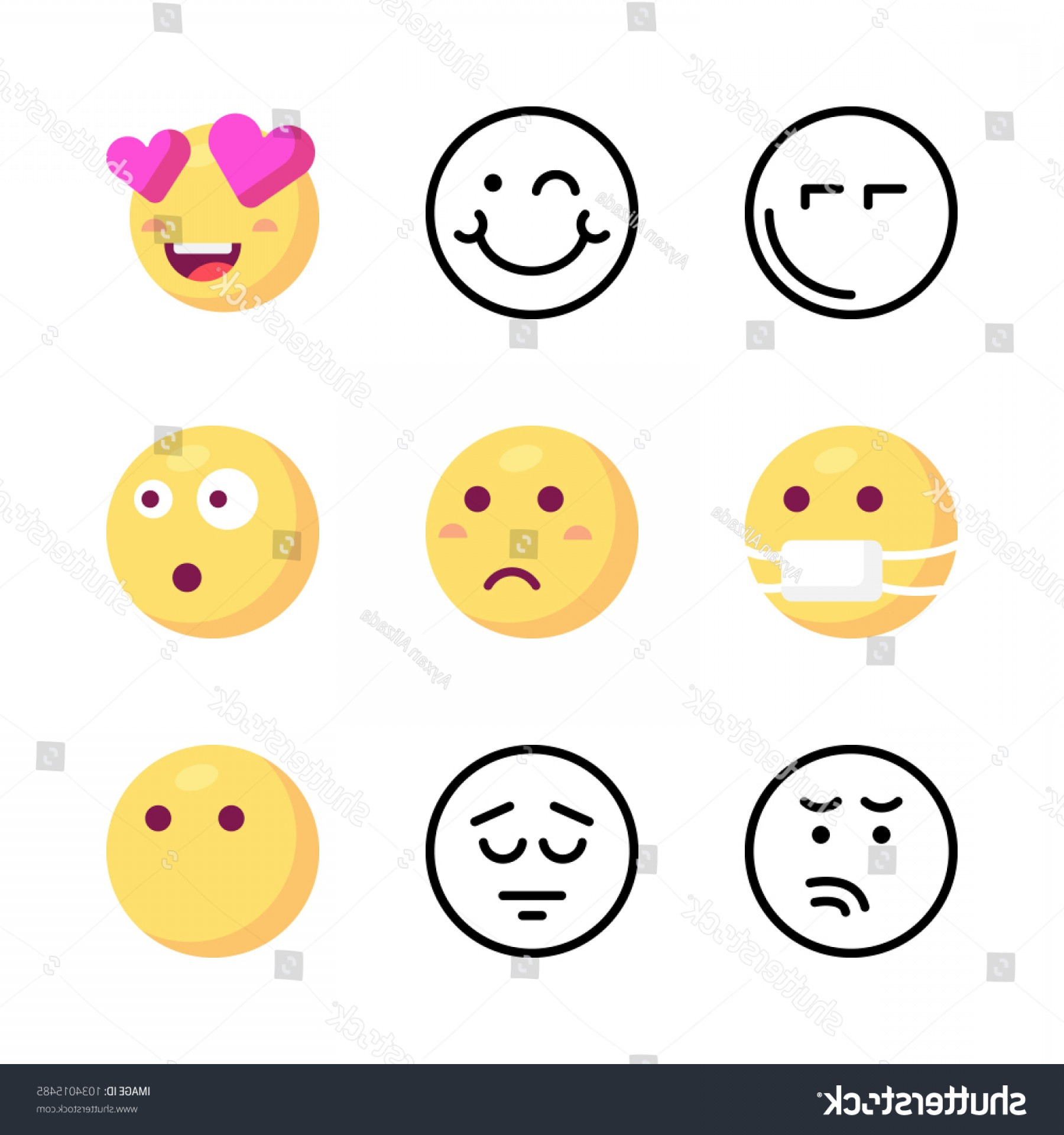 Angry Emoji Vector Icons: Icons Emoji Vector Angry Love Mute