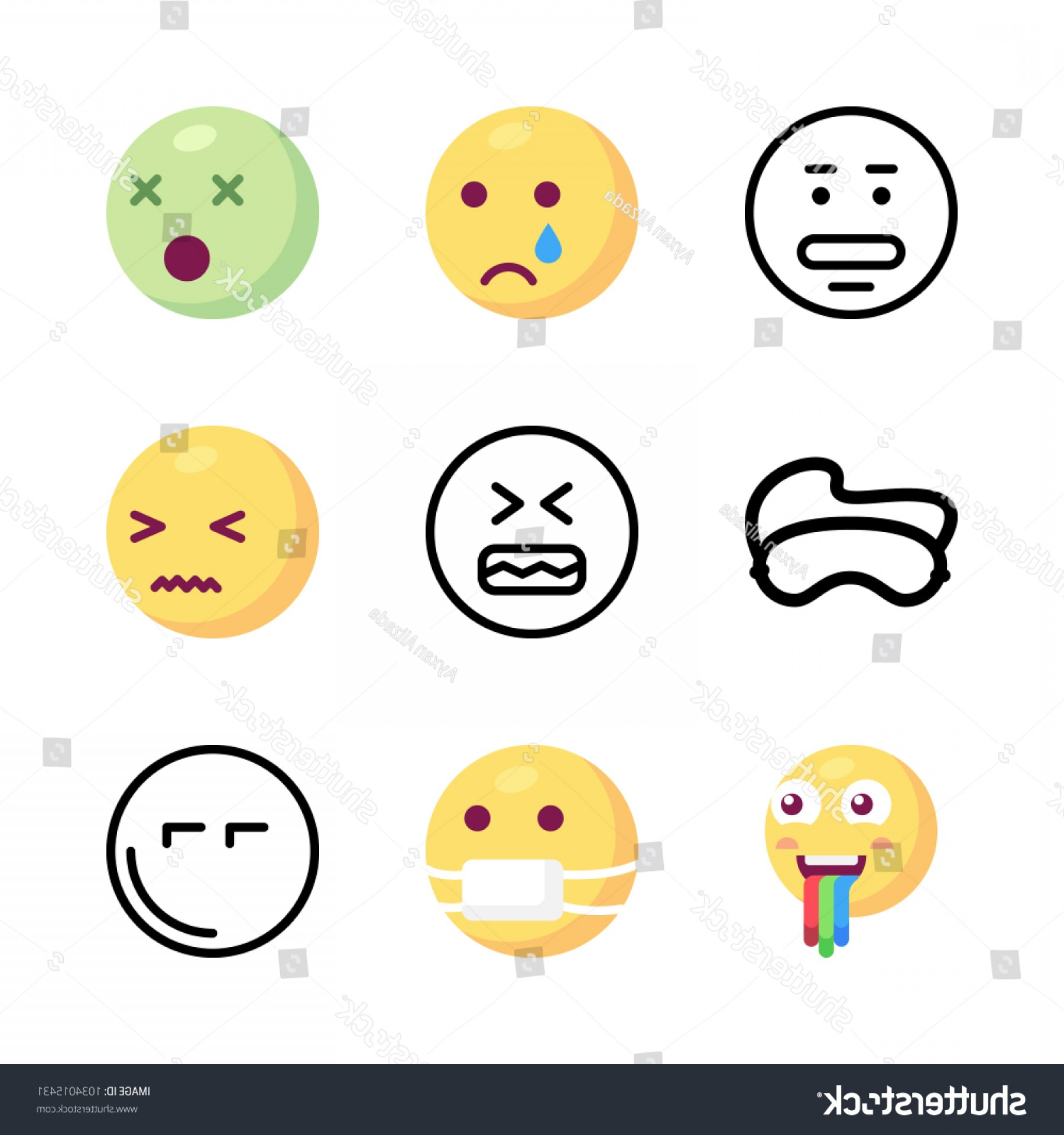 Angry Emoji Vector Icons: Icons Emoji Vector Angry Mask Confused