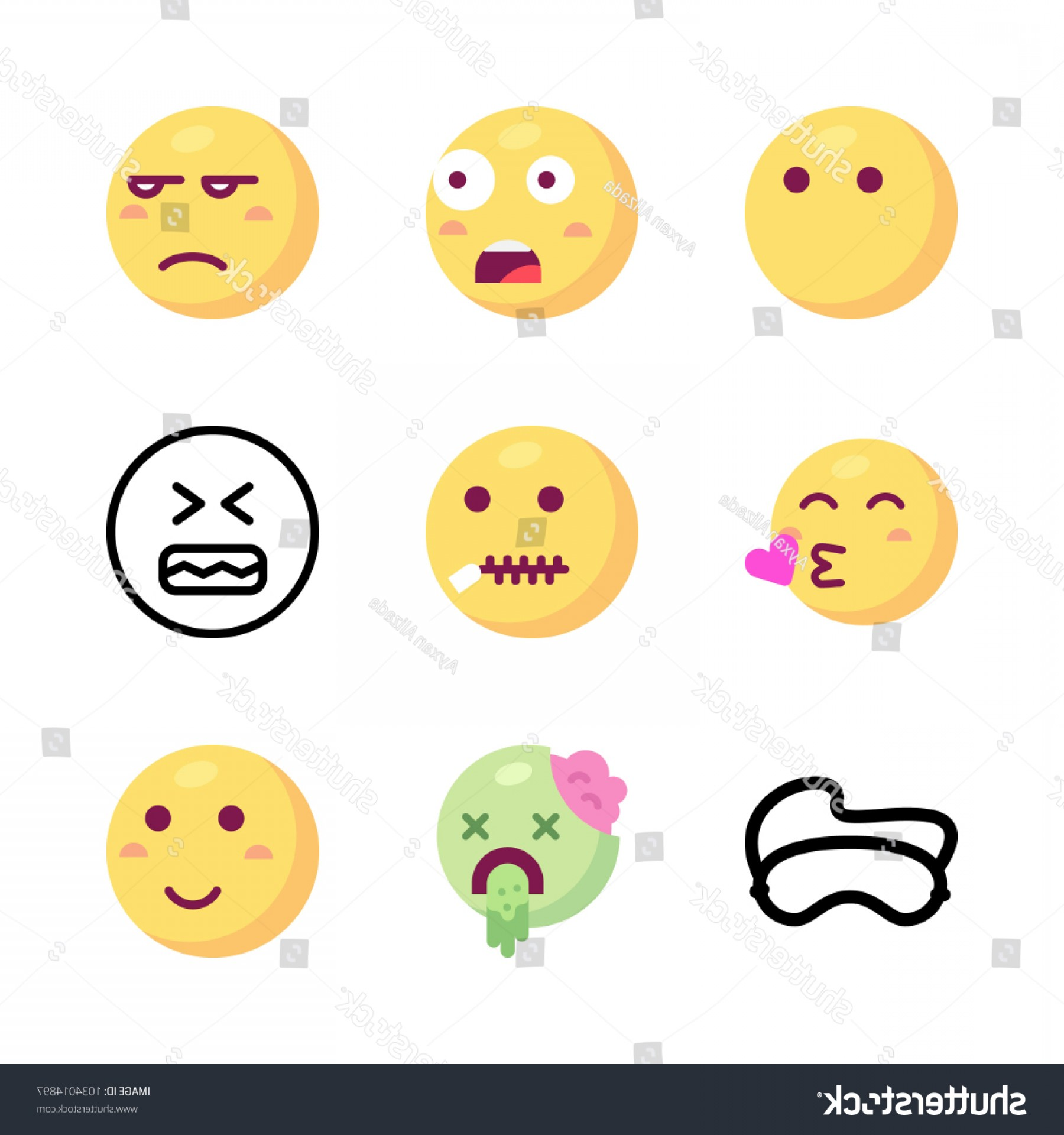 Angry Emoji Vector Icons: Icons Emoji Vector Mute Angry Unamused